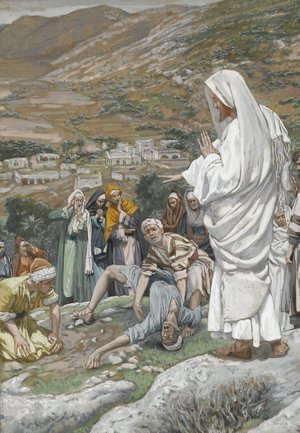 James Jacques Joseph Tissot - The Possessed Boy at the Foot of Mount Tabor