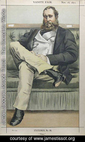James Jacques Joseph Tissot - Caricature of Lionel Dawson Damer M.P.