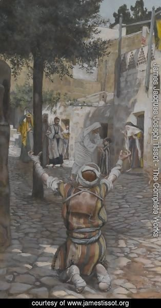 James Jacques Joseph Tissot - Healing of the Lepers at Capernaum