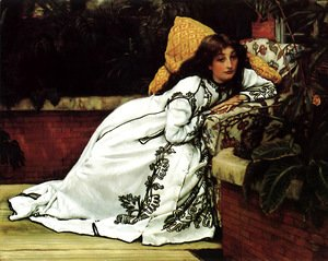 James Jacques Joseph Tissot - A Girl in an Armchair