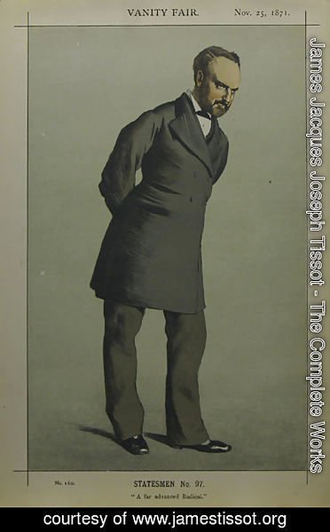 James Jacques Joseph Tissot - Caricature of Sir Charles Wentworth Dilke, 2nd Baronet PC