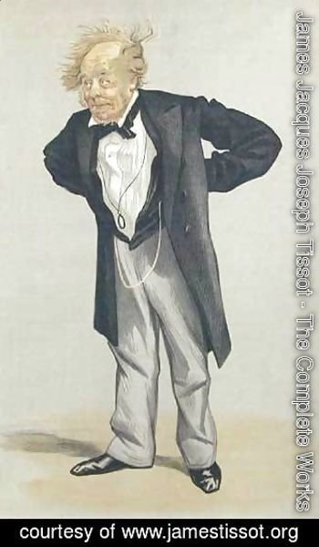 James Jacques Joseph Tissot - Statesmen No.1230 Caricature of The Rt Hon CP Villiers M.P.
