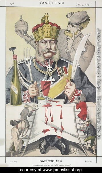 James Jacques Joseph Tissot - Sovereigns No.80 Caricature of The King of Prussi