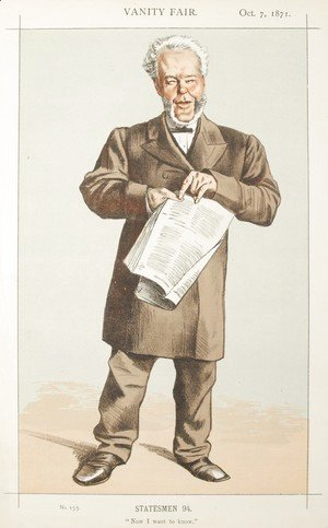 James Jacques Joseph Tissot - Statesmen No.940 Caricature of Alderman Andrew Lusk M.P.