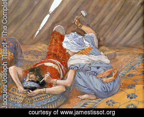 James Jacques Joseph Tissot - Jael Smote Sisera, and Slew Him
