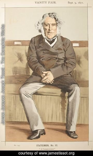 James Jacques Joseph Tissot - Statesmen No.920 Caricature of the Rt Hon Russell Gurney