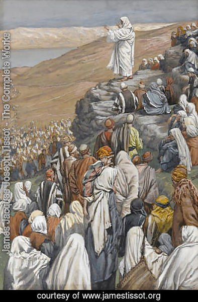James Jacques Joseph Tissot - The Sermon on the Mount, illustration for 'The Life of Christ'