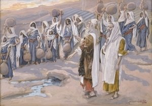 James Jacques Joseph Tissot - Moses Smiteth the Rock in the Desert
