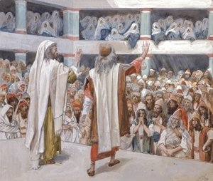 James Jacques Joseph Tissot - Moses and Aaron Speak to the People