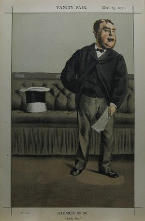 James Jacques Joseph Tissot - Caricature of George Cavendish Bentinck
