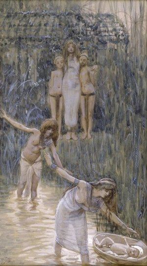 James Jacques Joseph Tissot - Pharaoh's Daughter Has Moses Brought to Her