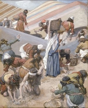 James Jacques Joseph Tissot - The Gathering of the Manna