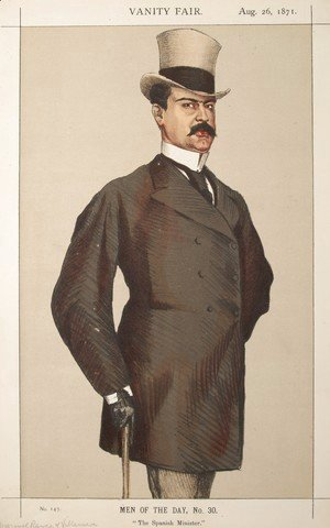 James Jacques Joseph Tissot - Men or Women of the Day No.300 Caricature of Don Manuel Rances-y-Villanueva
