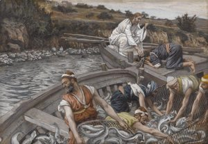 James Jacques Joseph Tissot - The Miraculous Draught of Fishes (La peche miraculeuse)