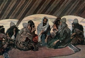 James Jacques Joseph Tissot - Jethro and Moses, as in Exodus 18