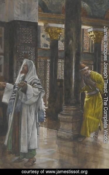 James Jacques Joseph Tissot - The Pharisee and the Publican