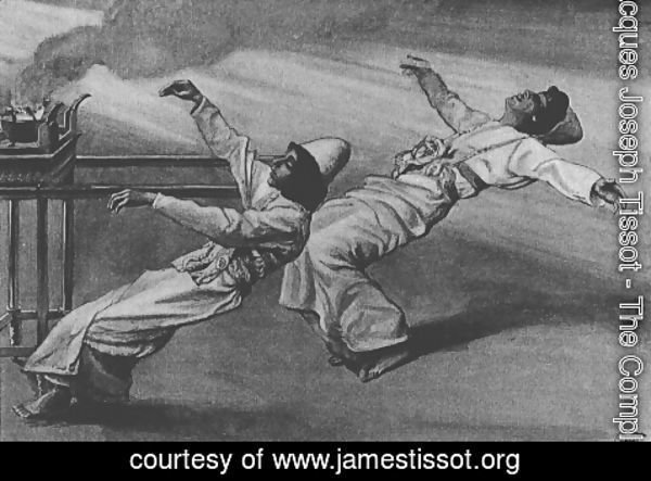 James Jacques Joseph Tissot - Nadab and Abihu are killed in the Tabernacle, Leviticus
