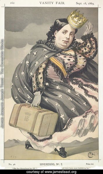 Sovereigns No.20 Caricature of Isabella II of Spain