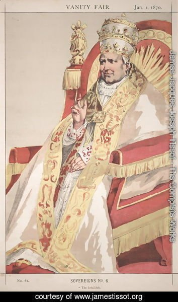 James Jacques Joseph Tissot - Sovereigns No.60 Caricature of Pope Pius IX