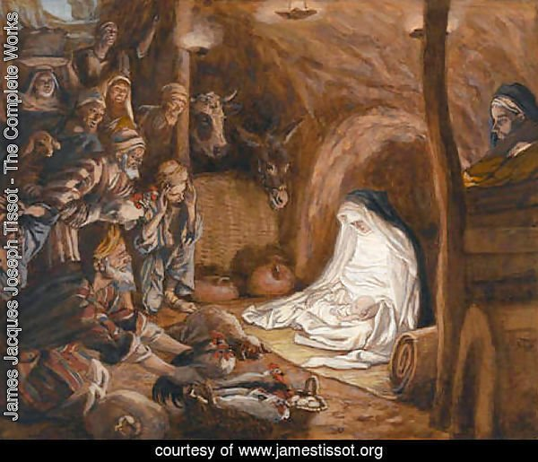 The Adoration of the Shepherds, illustration for 'The Life of Christ'