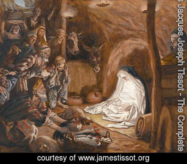 James Jacques Joseph Tissot - The Adoration of the Shepherds, illustration for 'The Life of Christ'