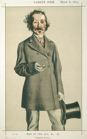 Men of the Day No.580 Caricature of Mr.Thomas Mayne Reid