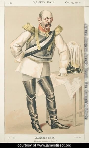 James Jacques Joseph Tissot - Statesmen No.660 Caricature of Count von Bismarck Schoenausen