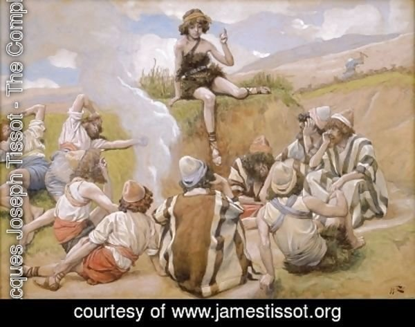 James Jacques Joseph Tissot - Joseph Reveals His Dream to His Brethren