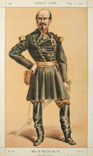Men of the Day No.100 Caricature of Gen Louis Jules Trochu, Caption reads
