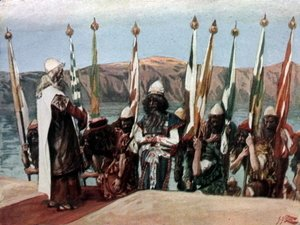 James Jacques Joseph Tissot - Moses Blesses Joshua Before the High Priest