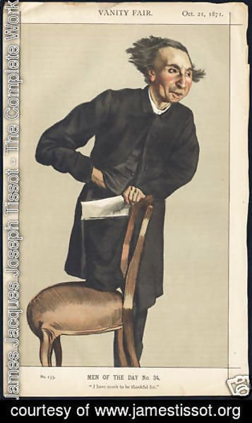 James Jacques Joseph Tissot - Caricature of Charles Voysey