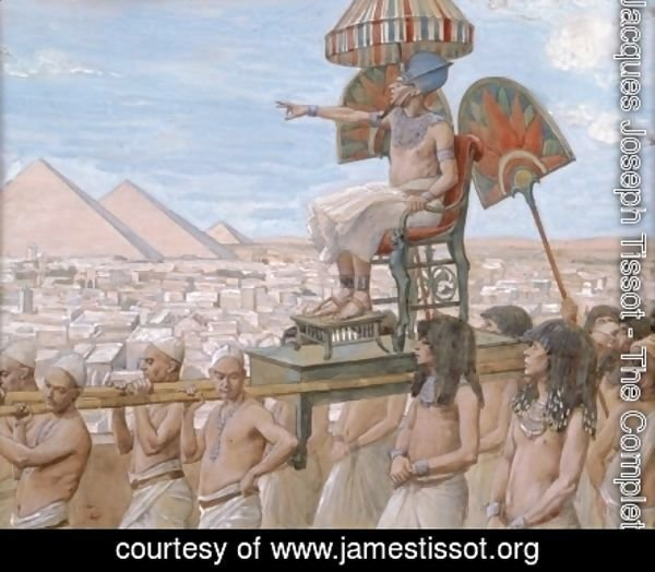 James Jacques Joseph Tissot - Pharaoh Notes the Importance of the Jewish People