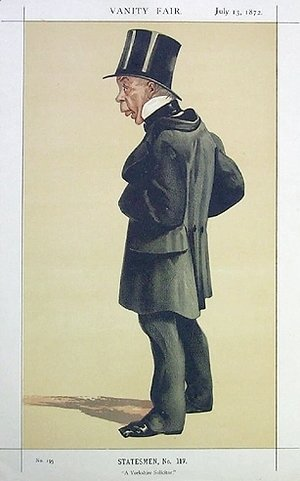Caricature of Mr George Leeman M.P.