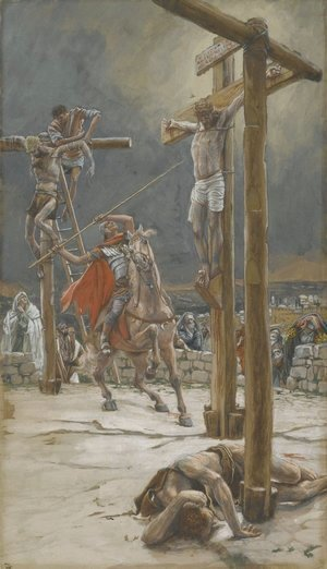 James Jacques Joseph Tissot - The Strike of the Lance (Le coup de lance)