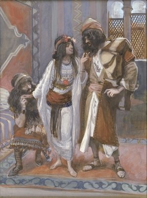 James Jacques Joseph Tissot - The Harlot of Jericho and the Two Spies