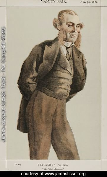 James Jacques Joseph Tissot - Statesmen No.1300 Caricature of Mr Roger Eykyn, Liberal M.P. for Windsor