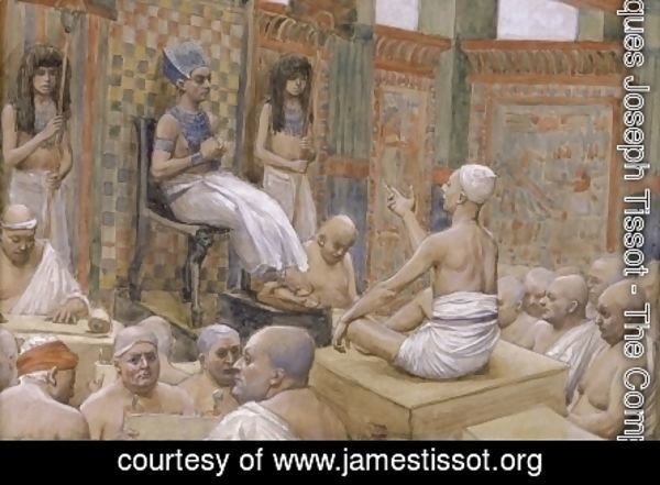 James Jacques Joseph Tissot - Joseph Interprets Pharaoh's Dream