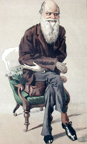 James Jacques Joseph Tissot - Caricature of Charles Darwin from Vanity Fair magazine