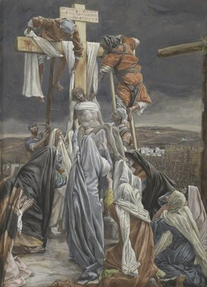 James Jacques Joseph Tissot - The Descent from the Cross, illustration for 'The Life of Christ'