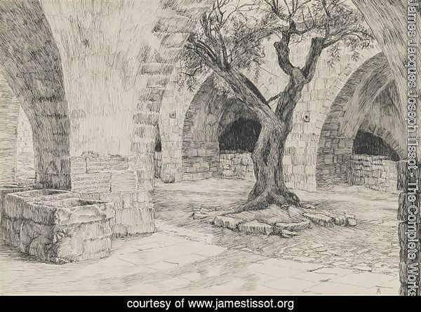 Out-building of the Armenian Convent, Jerusalem, illustration from 'The Life of Our Lord Jesus Christ'