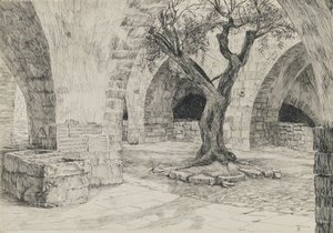 James Jacques Joseph Tissot - Out-building of the Armenian Convent, Jerusalem, illustration from 'The Life of Our Lord Jesus Christ'