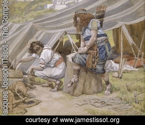 James Jacques Joseph Tissot - The Mess of Pottage