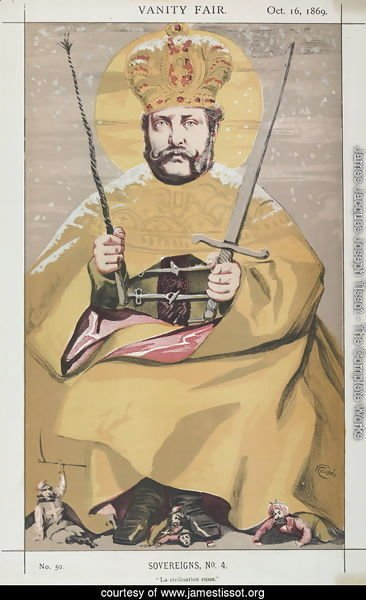 Sovereigns No.40 Caricature of Alexander II of Russia