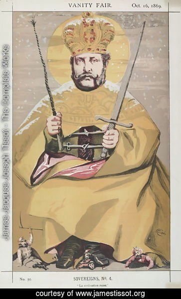 James Jacques Joseph Tissot - Sovereigns No.40 Caricature of Alexander II of Russia