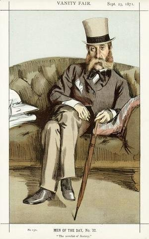 James Jacques Joseph Tissot - Caricature of George Whyte Melville