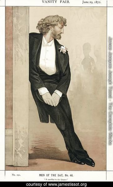 Caricature of Frederic Leighton