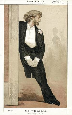 James Jacques Joseph Tissot - Caricature of Frederic Leighton