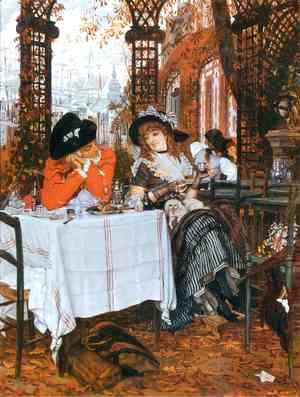 James Jacques Joseph Tissot - A Luncheon