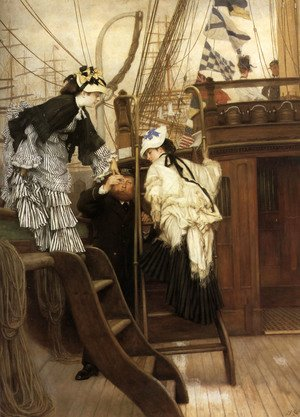 James Jacques Joseph Tissot - Boarding The Yacht