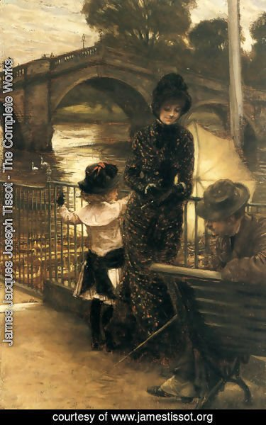 James Jacques Joseph Tissot - By The Thames At Richmond